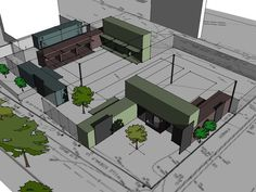 Rendering of The Eddy, a future food truck park and
