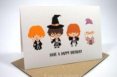 Happy Birthday Card - Boy or Girl - Harry Potter - HBC118 on Etsy, $3.22