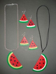 Watermelon set hama beads by ChiA CReaTioNS