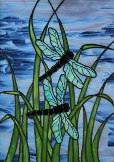 Stained Glass Dragonfly -- [REPINNED by All Creatures Gift Shop]