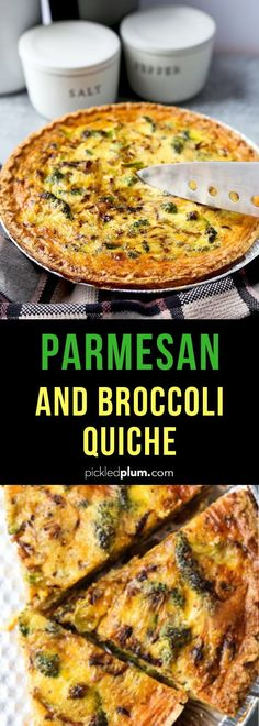 Parmesan and Broccoli Quiche Parmesan and Broccoli Quiche Pickled Plum Food and Drinks pickledplumfood Quick and Easy Dinner Recipes Broccoli and Parmesan Quiche nbsp hellip quiche healthy Healthy Brunch, Healthy Meal Prep, Healthy Breakfast Recipes, Brunch Recipes, Easy Dinner Recipes, Healthy Recipes, Breakfast Ideas, Healthy Quiche, Brunch Food