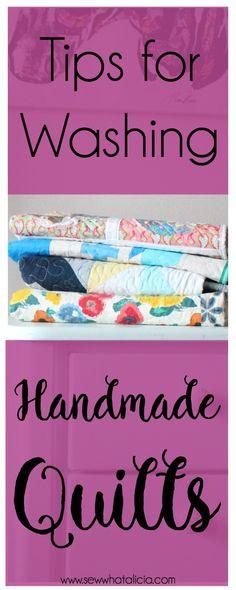 sewing for beginners learning Tips for Washing a Quilt: When you sew a beautiful handmade quilt you need to be super careful about washing it! Here are all my tips for washing a handmade quilt. Sewing Projects For Beginners, Easy Sewing Projects, Sewing Tutorials, Sewing Hacks, Sewing Tips, Sewing Ideas, Learn Sewing, Simple Projects, Sewing Lessons