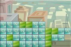 Torre de letras. Juego de palabras tipo Tetris.