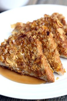 Crunchy French Toast recipe with corn flakes and yummy cinnamon. Try making this breakfast brunch treat for your family with Jimmy John's Day Old French Bread