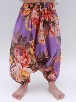 Girls floral harem pants baggy summer hippy boho trousers 1,2,3,4,5,6,7 years