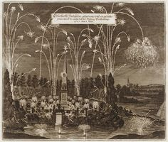 Celebration for the Elector Johann Georg II, Leipzig, July 8, 1667: Fireworks Display by Night, ca. 1667. The Metropolitan Museum of Art, New York. Harris Brisbane Dick Fund, 1953 (53.600.3604)