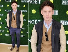 Eddie Redmayne In All Saints - Aegon Championships Queen's Club Finals // amazing outfit.