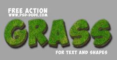 Grass Text Photoshop Free Action | PSDDude