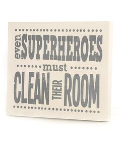 Make sure little superheroes learn their manners between sleeping and saving the world. This witty graphic art reminder comes ready to hang in a little one's bedroom.16'' W x 14'' HMedium-density fiberboardReady to hangMade in the USA