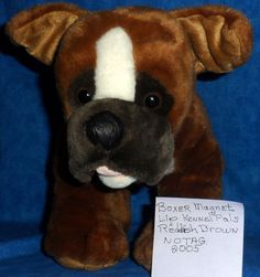 Build A Bear Reddish Brown Magnet Lip BOXER BEAREMY'S KENNEL PALS 2005 BABW SA4 #BuildaBear #AllOccasion