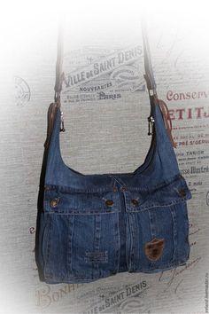 2bc11b45e Женские сумки ручной работы. Ярмарка Мастеров - ручная работа. Купить  Джинсовая сумка через плечо