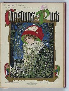 Christmas Puck Gordon Ross 1910 Beautiful Woman Standing Among Mistletoe Snow   eBay