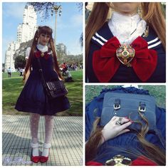 This is one seriously spectacular Sailor Moon inspired outfit.