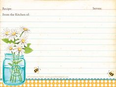 SusieQTpies Cafe: {Freebies for Mom} Gooseberry Patch 3 Free Recipe Card Printables Printable Recipe Cards, Printable Labels, Recipe Printables, Free Printables, Printable Templates, Envelopes, Gooseberry Patch Cookbooks, Recipe Scrapbook, Recipe Binders