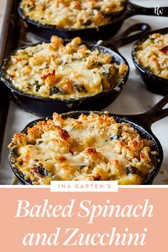 Baked spinach and zucchini are anything but a snooze-fest when Ina Garten gets her hands on them. The Barefoot Contessa adds basmati rice and two different types of cheese. Spinach Recipes, Vegetable Recipes, Vegetarian Recipes, Cooking Recipes, Healthy Recipes, Side Recipes, Dinner Recipes, Spinach Casserole, Vegetable Dishes
