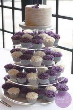 hydrangea cupcake tower | 1372465330287 Hydrangeatower Aurora wedding cake