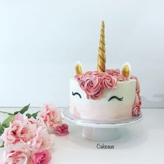 Yksisarviskakku Unicorncake Www.cakeaus.com Girl Cakes, Birthday Cake, Desserts, Food, Tailgate Desserts, Deserts, Birthday Cakes, Essen, Postres