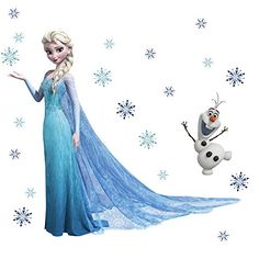Queen Elsa Frozen Wall Stickers Olaf Decorative Wall Decal Cartoon Wallpaper Kids Frozen Decoration Christmas Wall Art New Exclusive