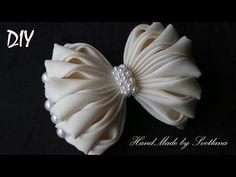 Бантики из ленты КАНЗАШИ Мастер класс DIY Bows made of ribbon Kanzashi Laço de Cetim - YouTube