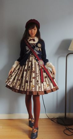 Beret: handmade by friendBlouse: Pumpkin CatCardigan: Lois CrayonShoes: Fint. ~Thank you~