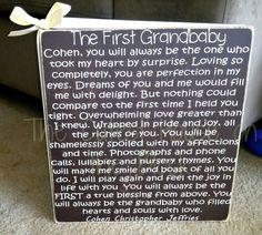 The First Grandbaby Sign. So making this for ya-ya and pa-pa!