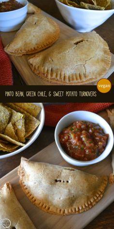 Vegan Pinto Bean, Green Chile, & Sweet Potato Turnovers by An Unrefined Vegan.