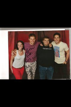 Me and Kait with Zach Roerig and Michael Trevino