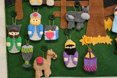 Nativity Advent Calendar 24 Ornaments Hand by thelullabyloft