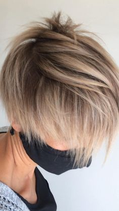 Blonde Pixie Haircut, Blonde Haircuts, Bob Hairstyles For Fine Hair, Pixie Hairstyles, Textured Bob Hairstyles, Korean Hairstyles, Short Hair Cuts, Short Hair Styles, Modern Short Hair