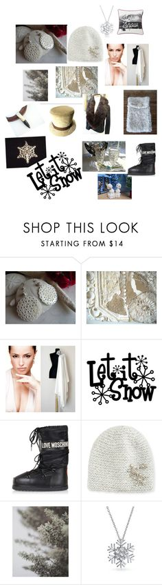Let it Snow by lisa-bodiker on Polyvore featuring Moschino, Bling Jewelry, Jennifer Behr, Lexington, vintage, etsy, homedecor, winterfashion and wintertrends