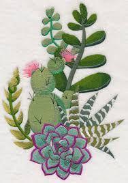 Bildergebnis für embroidery green succulents