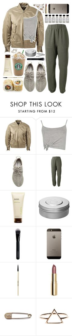 """""""Untitled #1147"""" by noviii ❤ liked on Polyvore featuring adidas Originals, Boohoo, Ahava, Hermès, Givenchy, BOBBY, Bobbi Brown Cosmetics and H&M"""