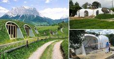 Estas casas hobbit, verdes e insertas en la montaña pueden construirse en pocos días y son confortables y amigables con el medio ambiente.