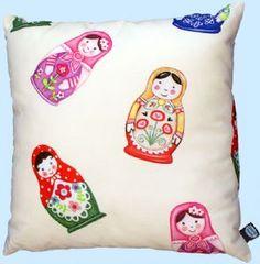 Russian Doll Cushion from Jennie Maizels