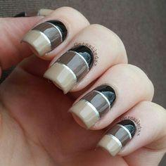 Color Blocking nails @ getnailedxx Love Nails, Fun Nails, Color Block Nails, Manicure And Pedicure, Manicure Ideas, Nail Ideas, Finger Art, School Nails, Beautiful Nail Designs