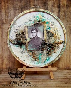 Mixed-media art art journaling and scrapbooking by polish artist and teacher Anna Dabrowska aka Finnabair. Mixed Media Canvas, Mixed Media Collage, Collage Art, Paper Collages, Altered Canvas, Altered Art, Altered Boxes, Mixed Media Scrapbooking, Scrapbooking Layouts