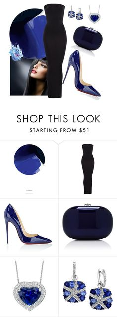 """""""Untitled #665"""" by domla ❤ liked on Polyvore featuring Holly's House, Wolford, Christian Louboutin, Jeffrey Levinson and Effy Jewelry"""