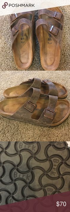 Men's size 13 brown Birkenstock sandals Excellent used condition. Tread on the bottom looks barely used. The tops are good with minor scratches as shown in photo. Overall a great pair of sandals Birkenstock Shoes Sandals & Flip-Flops
