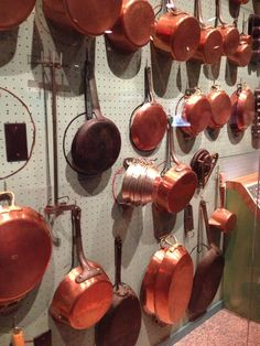 Beautiful copper pots that once belonged to Julia Child, now housed in the @Smithsonian. #KidsStateDinner #2013