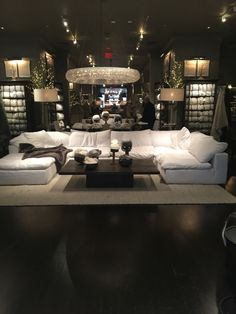 "A piece of heaven Restoration hardware ""cloud"" couch. A piece of heaven Home Living Room, Living Room Designs, Living Room Furniture, Home Furniture, Living Room Decor, Living Spaces, Furniture Design, Furniture Logo, Furniture Companies"