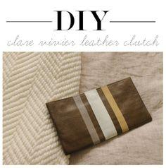 Linen, Lace, & Love: DIY: Clare Vivier Inspired Clutch #DIY #ClareVivier #Clutch