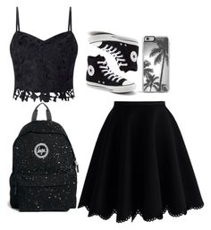 Casual - Monochrome by chameleonofdoom on Polyvore featuring polyvore, fashion, style, Lipsy, Chicwish, Converse, Hype, Zero Gravity, clothing, casual, monochrome, blackandwhite and casualoutfit