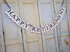 Happy Retirement Banner, Retirement Party Decorations, Retirement Parties, Retirement Gifts, Party Banners, Name Banners, Whimsical Fonts, Diy Banner, How To Make Notes