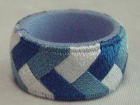 Yubinuki thimble ring with braid pattern