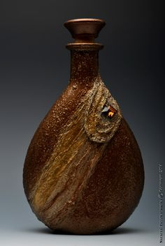 art bottles hand painted with Topaz-