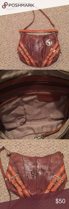 Michael Kors crossbody Good used condition. Some transfer from denim on back side. KORS Michael Kors Bags Crossbody Bags