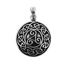 This bronze amulet has the Triskele symbol in the center, surrounded by a knotwork pattern. Dark Warrior, Dark Ages, Horns, Bronze, Symbols, Shapes, Artwork, Silver, Celtic Knots