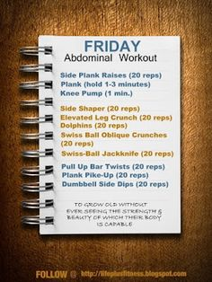Friday- Abs