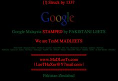 Google Malaysia Site DNS Hacked, Credit Claimed By 'Team Madleets' Hacker 1337