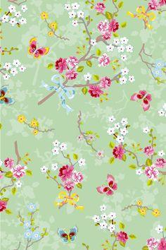 PiP Behang Eijffinger Chinese Rose Groen 386036